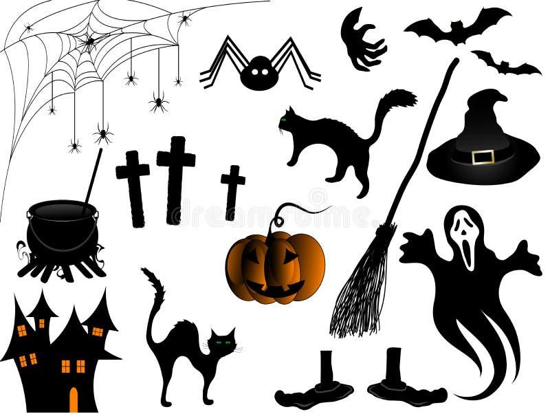 Halloween elements vector illustration