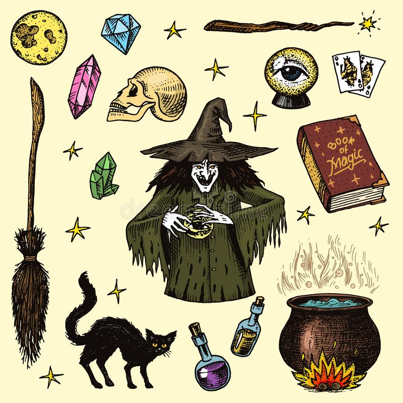Halloween Stencil~FLYING BLACK CAT /& HAT~Magical Witch Spells Vintage Style