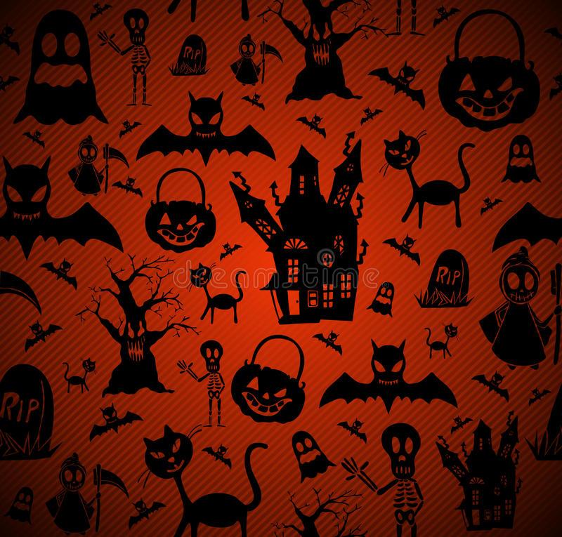 Halloween elements seamless pattern background EPS10 file. royalty free stock photos