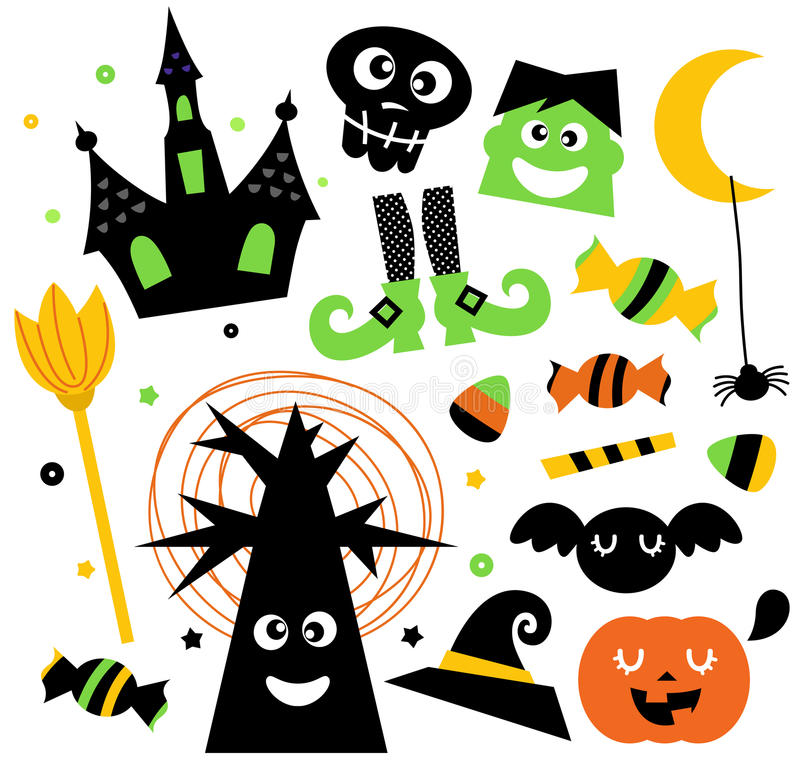 Download Halloween elements set stock vector. Image of celebration - 27435446