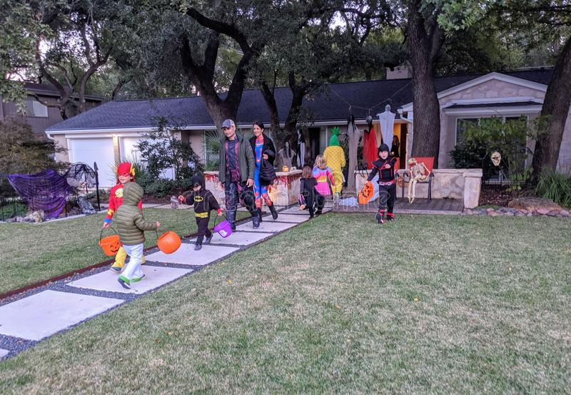 Halloween em Austin Texas fotos de stock