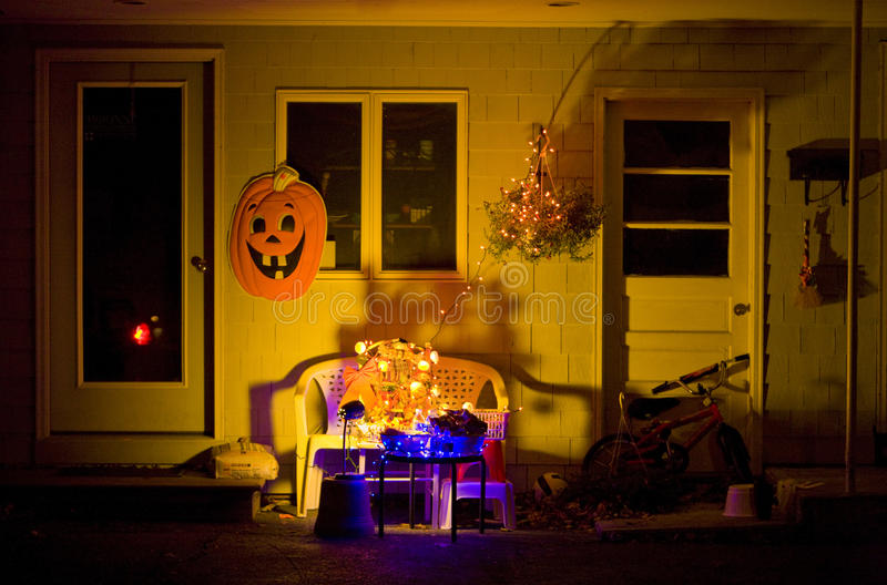 Halloween em Machias imagens de stock royalty free