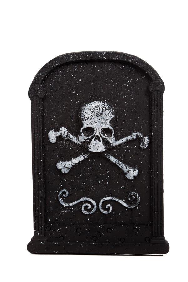 Halloween-ernster Stein auf einem weißen Hintergrund stockfotografie