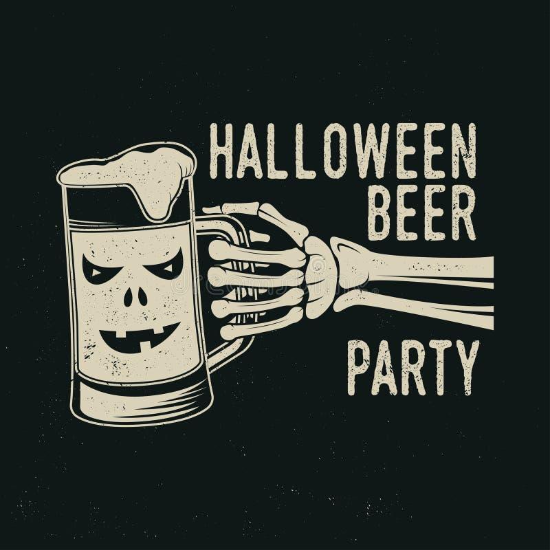 Halloween es concepto que viene Ilustración del vector stock de ilustración