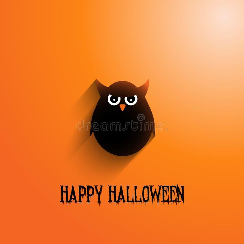 Halloween-Eulenhintergrund stock abbildung