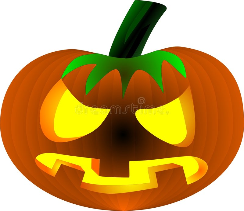 Halloween Evil Pumpkin stock images