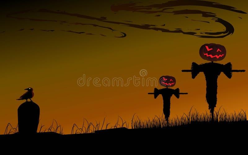 Halloween fällt Hintergrund lizenzfreie abbildung