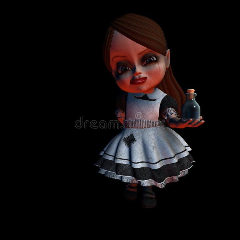 halloween för 3 docka dryck vektor illustrationer