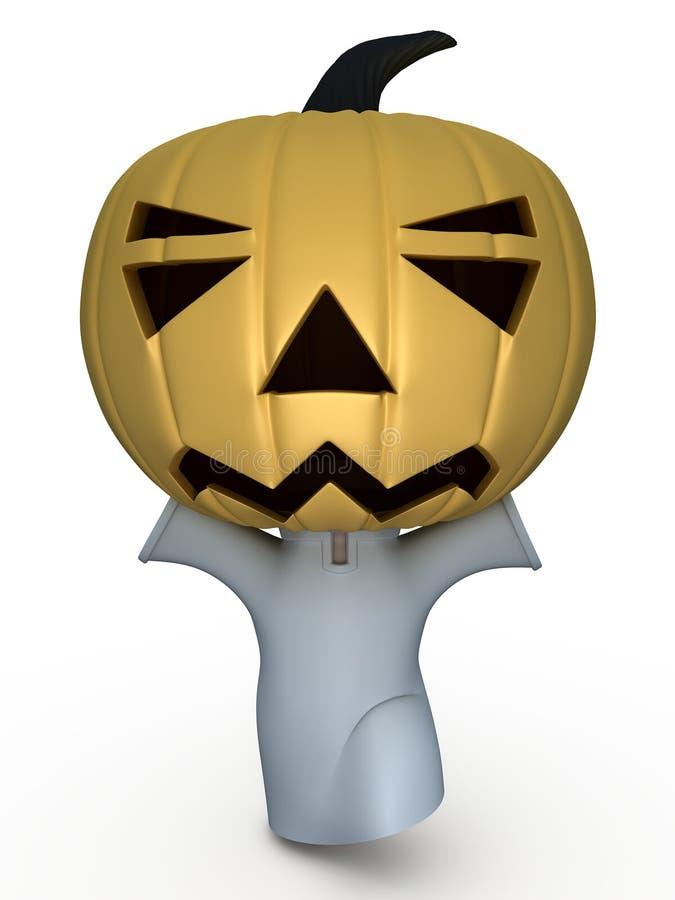 halloween för pojke 3d illustration stock illustrationer