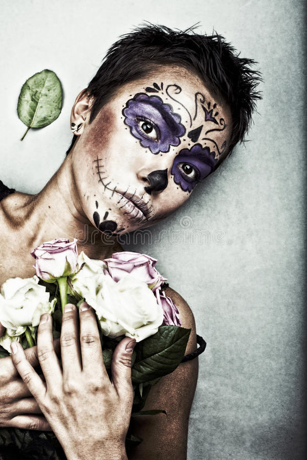 Halloween face art royalty free stock image