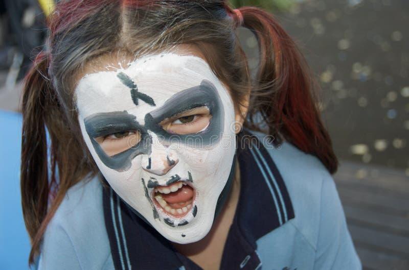 Halloween Face Painting stock photos