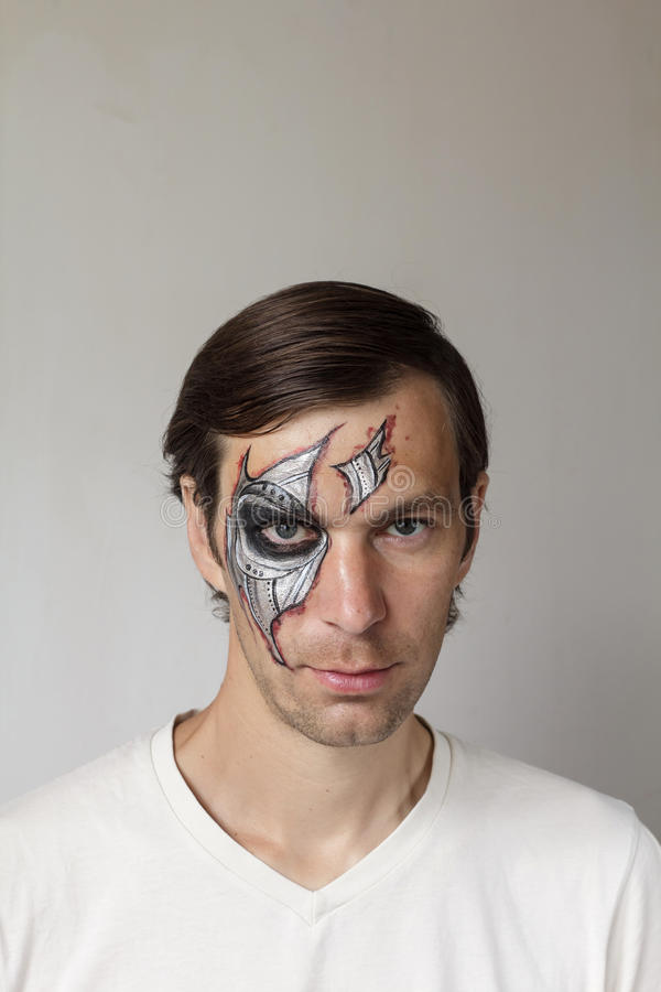Halloween face painting stock photo