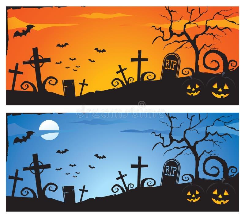 Halloween-Fahne stock abbildung