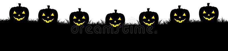 Halloween-Fahne mit schnitzen Kürbis vektor abbildung