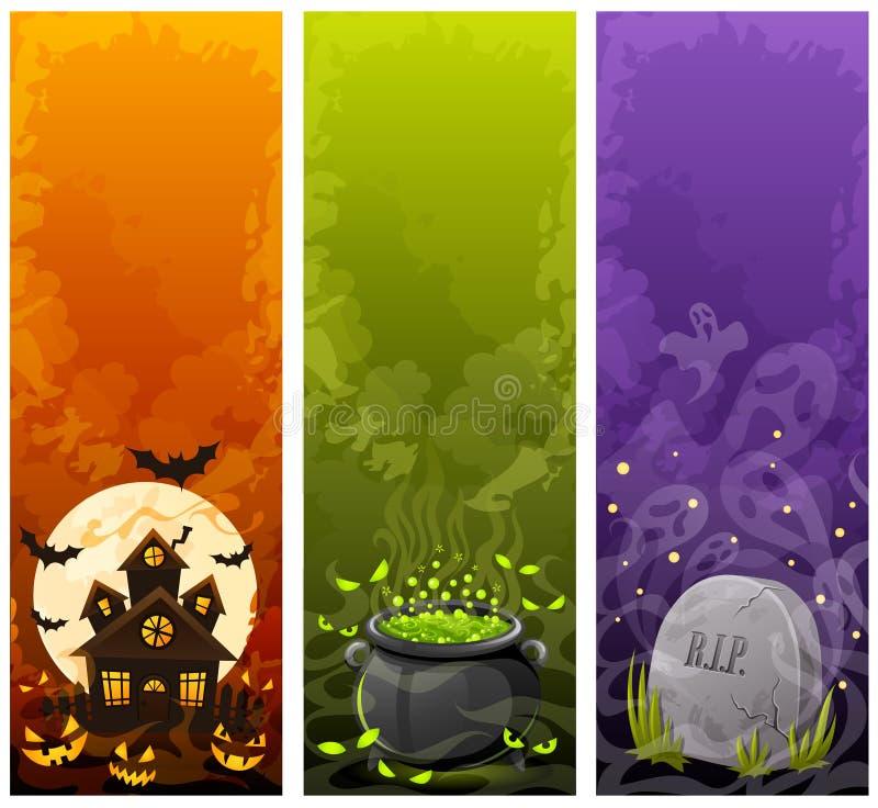 Halloween-Fahnen stock abbildung
