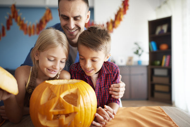 Halloween with family royalty free stock photos