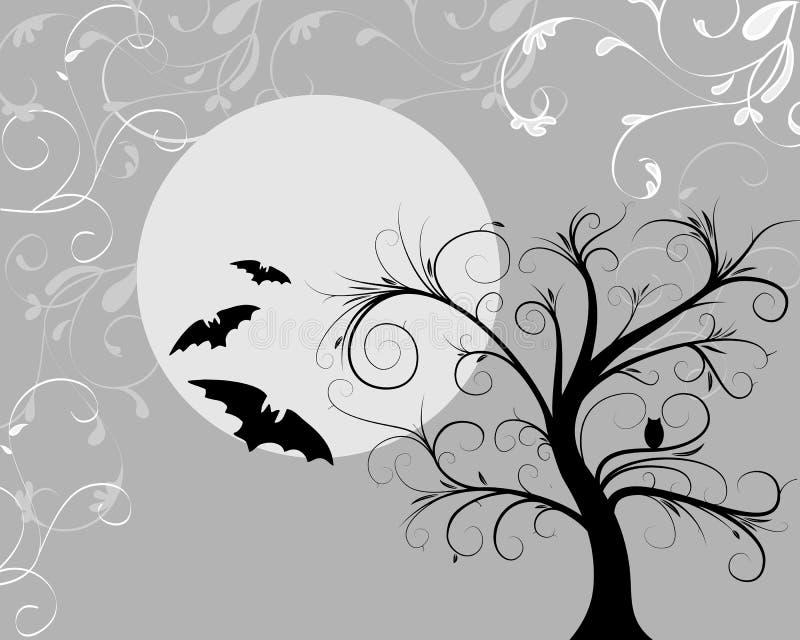Halloween fantasmagórico stock de ilustración
