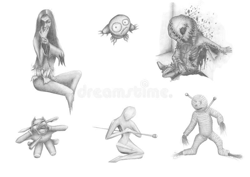 halloween fasa stock illustrationer