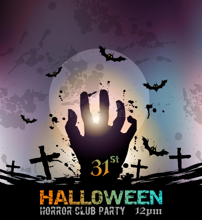 Halloween Fear Horror Party Background for flyers stock illustration