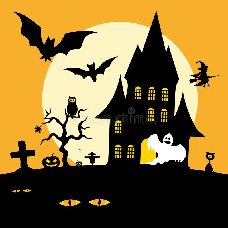 Halloween-Feiertag lizenzfreie abbildung