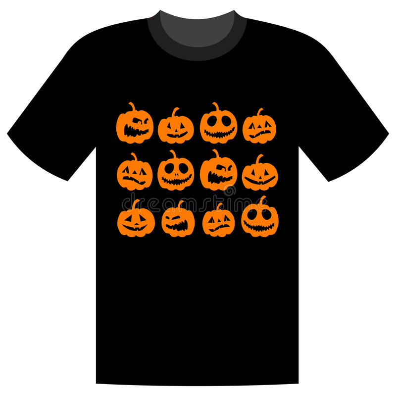 Halloween-Feiertag, Shirtauslegung stock abbildung