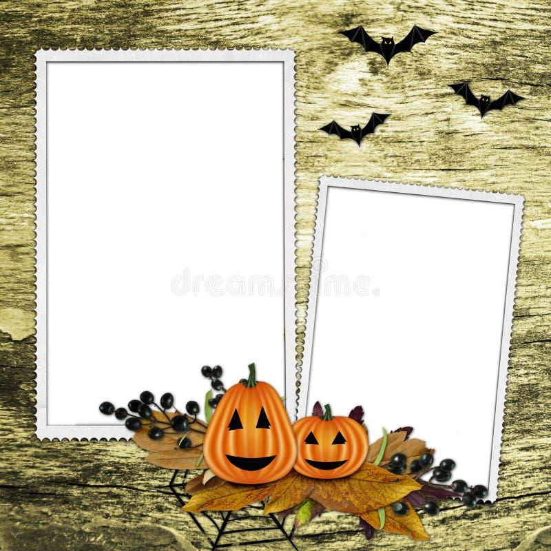 Halloween-Feld auf strukturiertem Hintergrund lizenzfreie abbildung