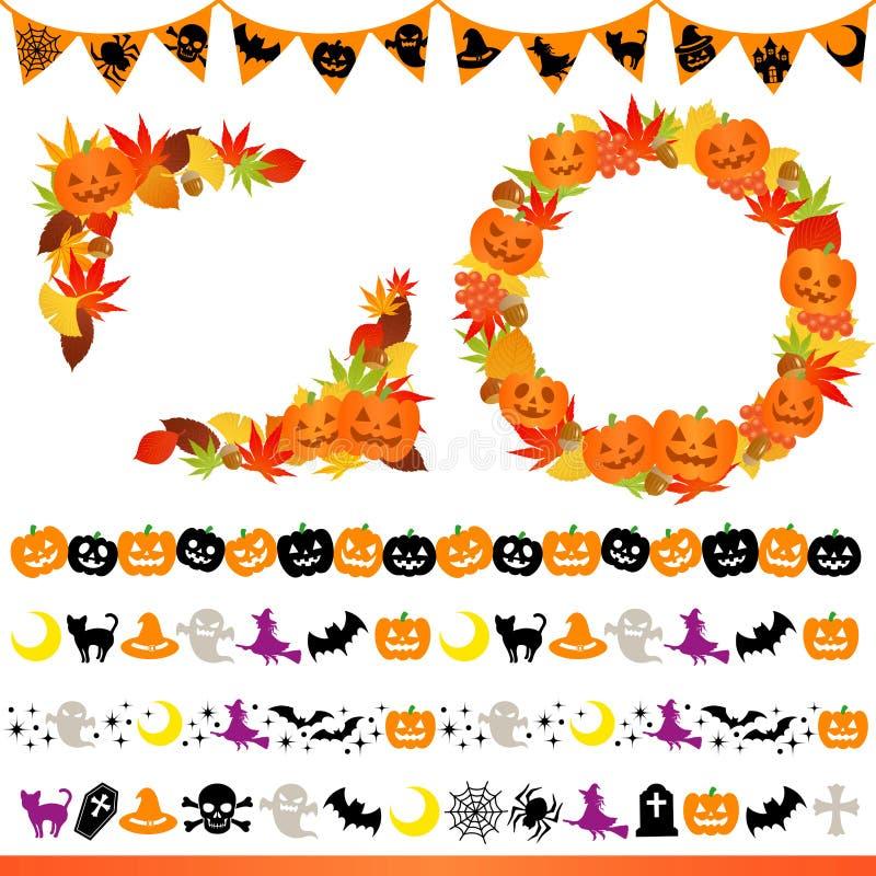 Halloween-Feld und Zeile lizenzfreie abbildung