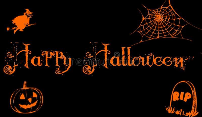 Halloween felice illustrazione vettoriale