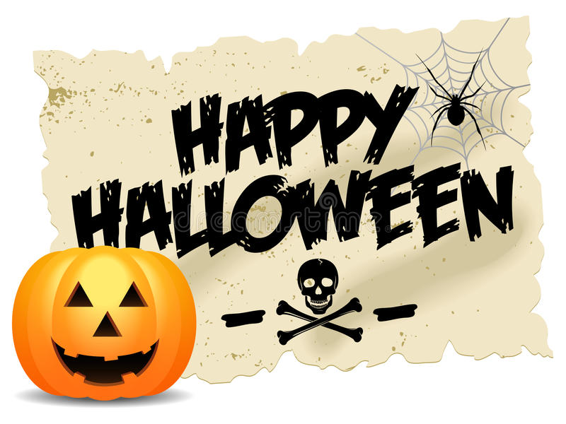 Halloween felice illustrazione di stock