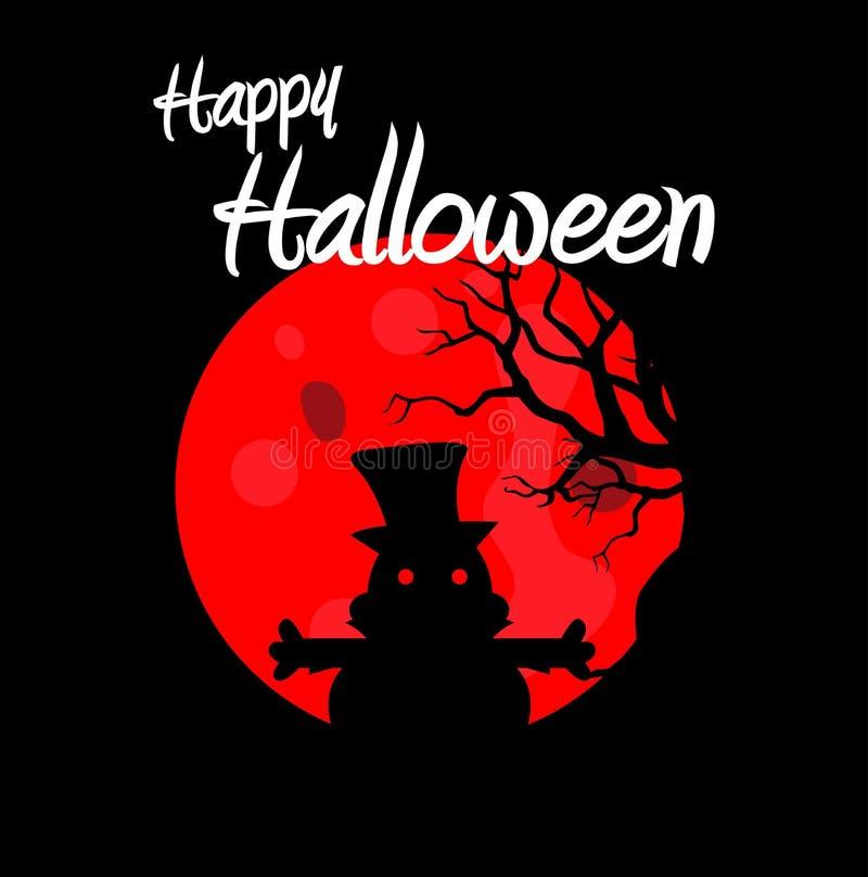 Halloween felice con il vettore della strega Illustratore di vettore illustrazione di stock