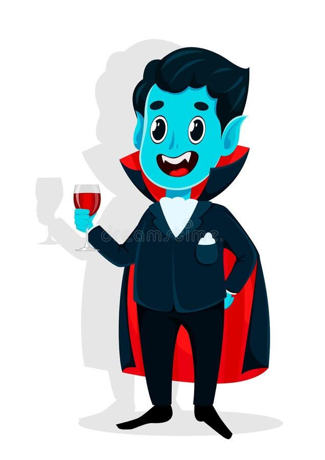 Halloween felice Personaggio dei cartoni animati del vampiro illustrazione vettoriale