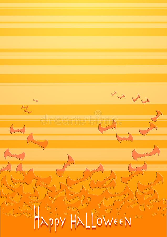 Halloween felice - pipistrelli arancio fotografie stock