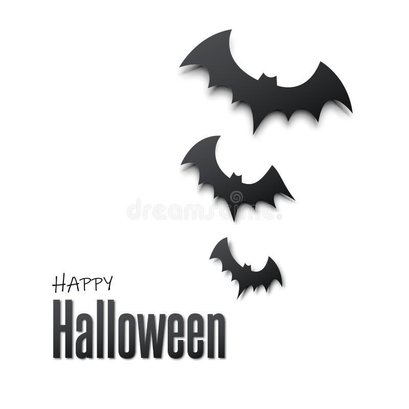 Halloween felice Vector l'illustrazione con il ragno dei pipistrelli per l'insegna, il manifesto, la cartolina d'auguri, invito d illustrazione vettoriale