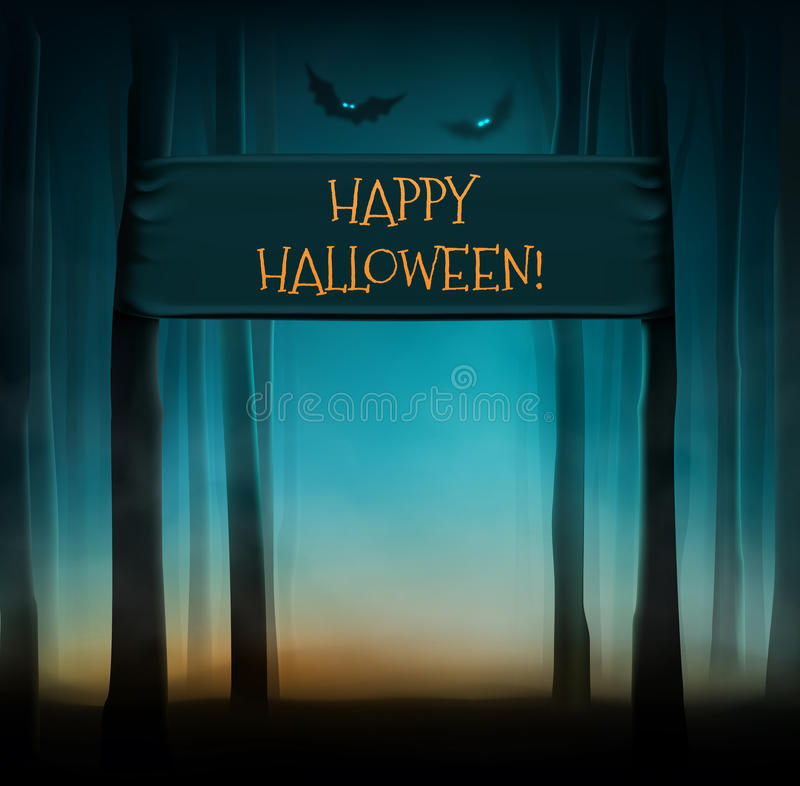 Halloween feliz ilustração royalty free