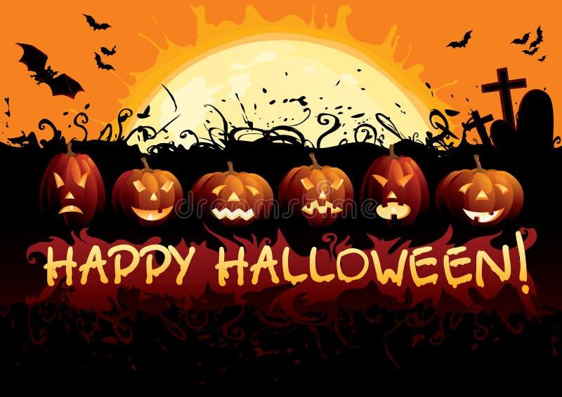 Halloween feliz! ilustração do vetor