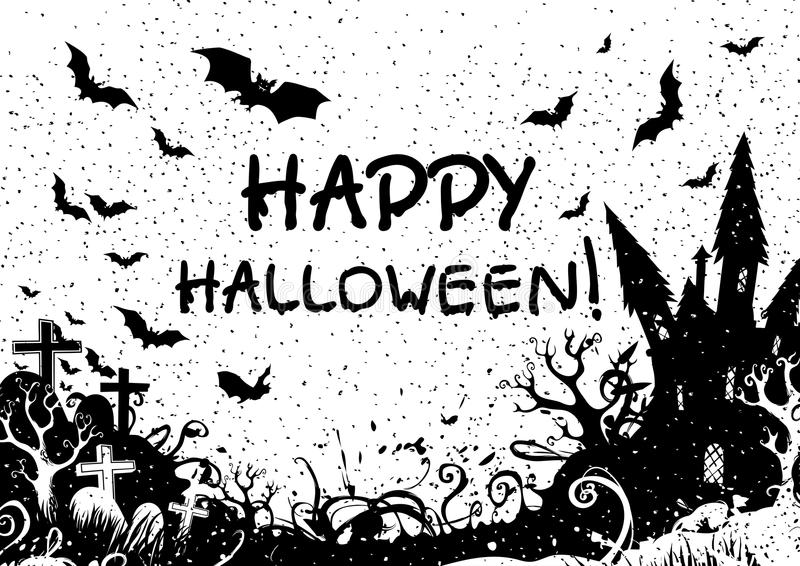 Halloween feliz! ilustração stock