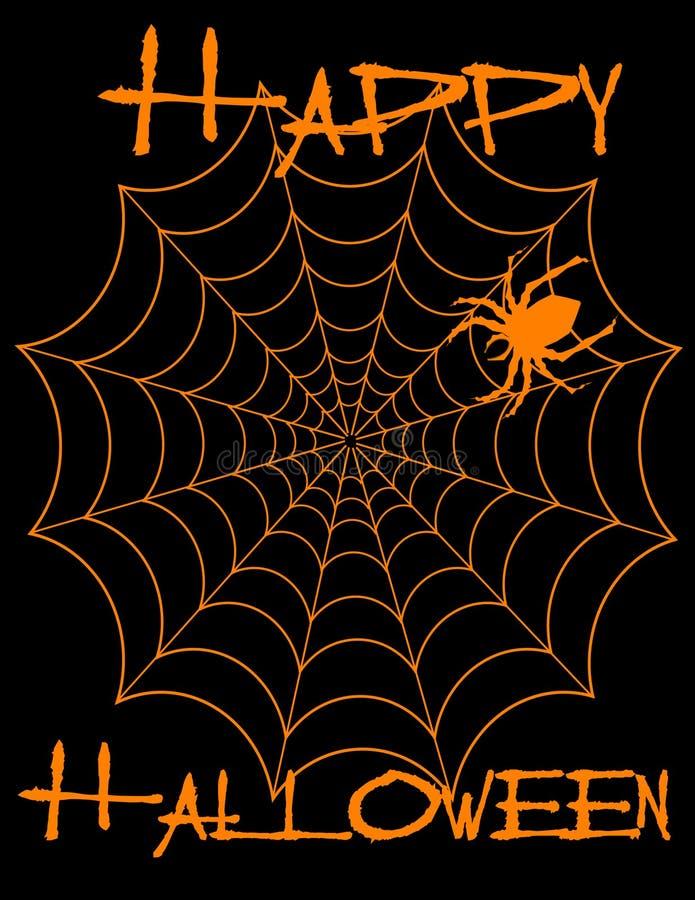 Halloween feliz! Spiderweb! ilustração do vetor