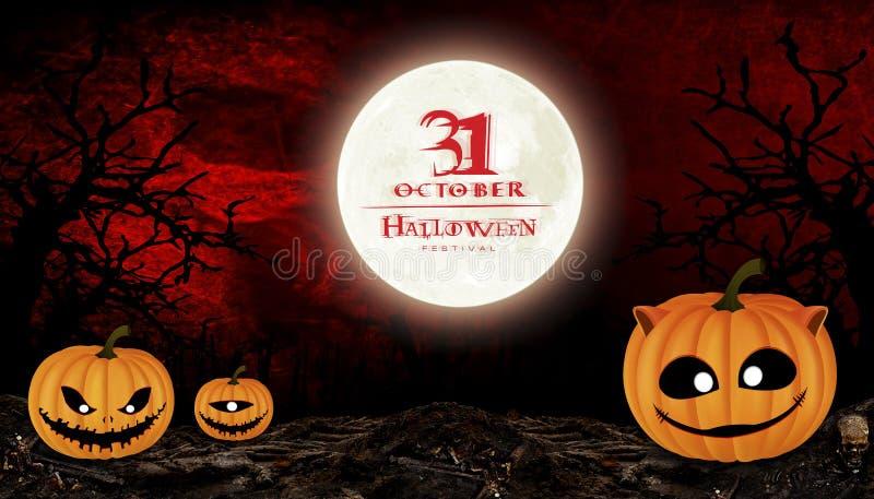 Halloween-Festival vector illustratie