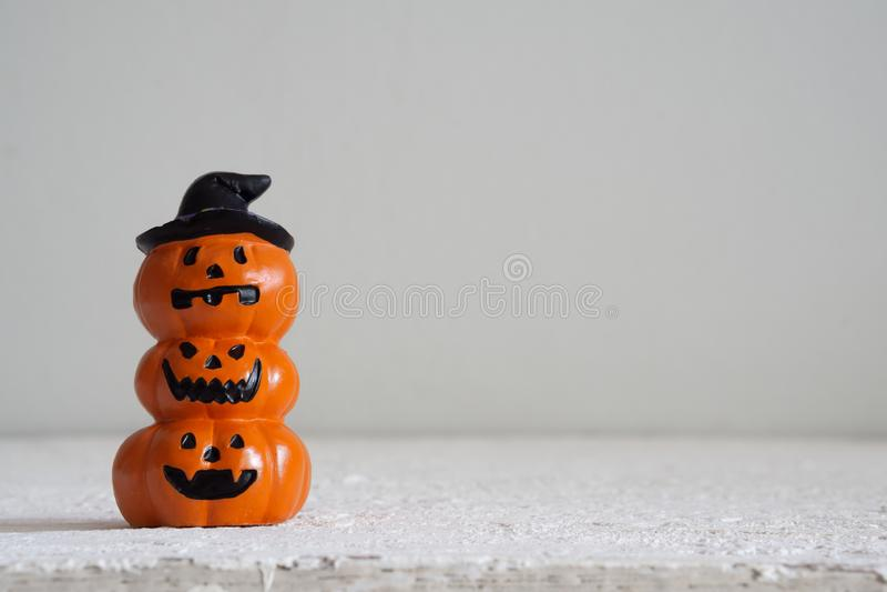 Halloween festival Head Doll Pumpkins haunted spooky Decoratio royalty free stock photo