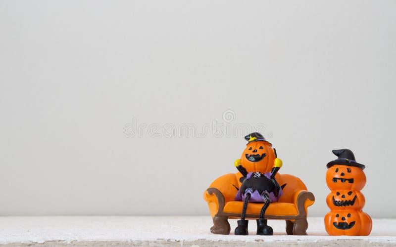 Halloween festival Head Doll Pumpkins haunted spooky Decoratio stock photography