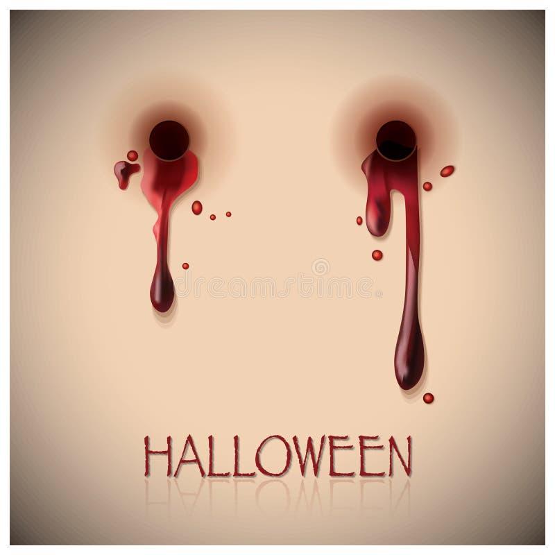 Halloween-Festivalbeet en Bloedachtergrond vector illustratie