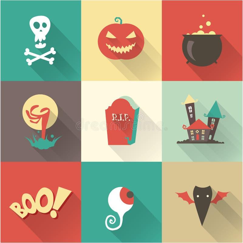 Halloween fijó stock de ilustración