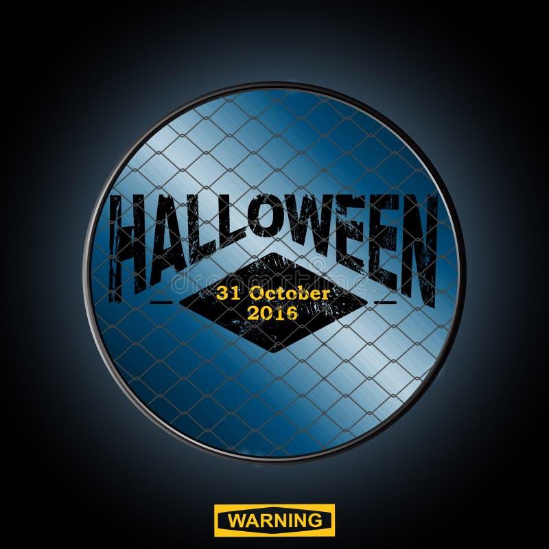 Halloween firma adentro una frontera ilustración del vector
