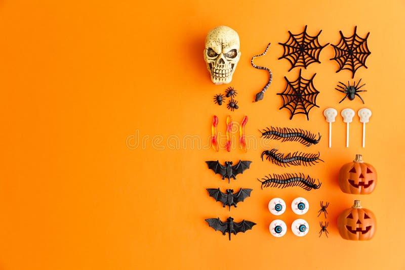 Halloween flat lay stock photos