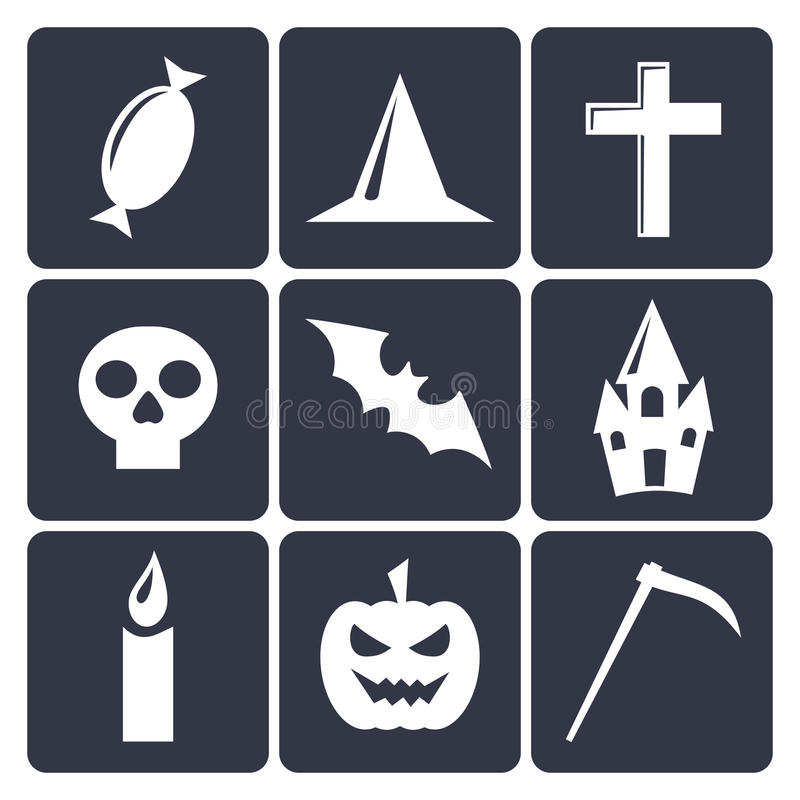Download Halloween Flat Vector Icons. Set 1 Stock Vector - Image: 33416567