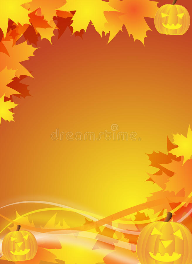 Halloween Flyer Background Stock Illustration