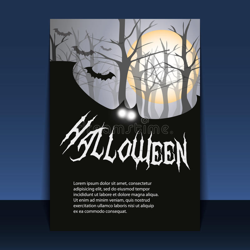 Download Halloween Flyer Or Cover Design Stock Vector - Image: 21312314
