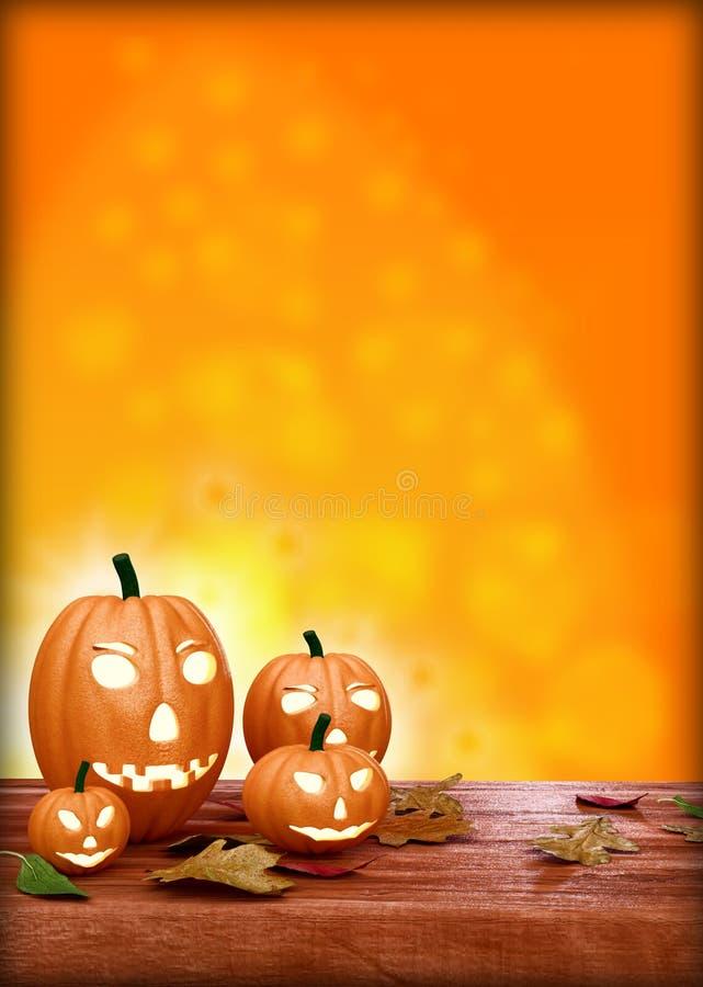 Halloween Flyer Design Template, With Pumpkin Stock