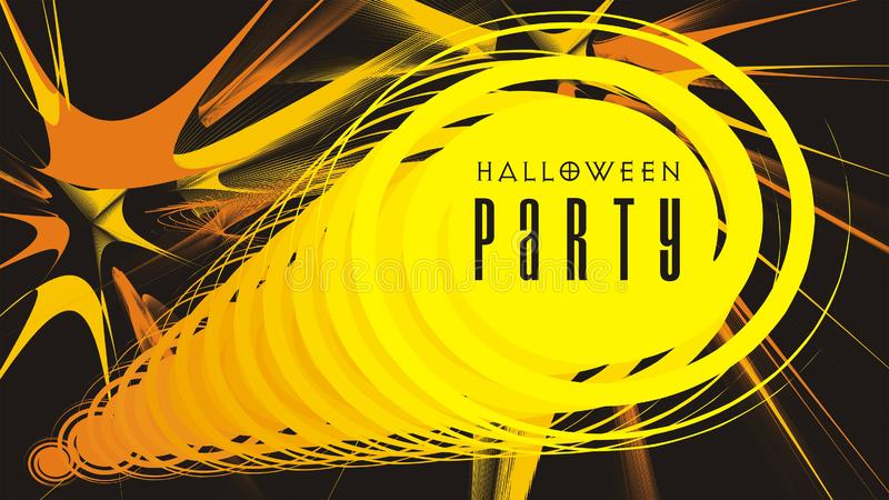Halloween flyer or poster abstract ornamented background vector illustration. Halloween flyer or poster abstract ornamented yellow and orange on black background stock illustration