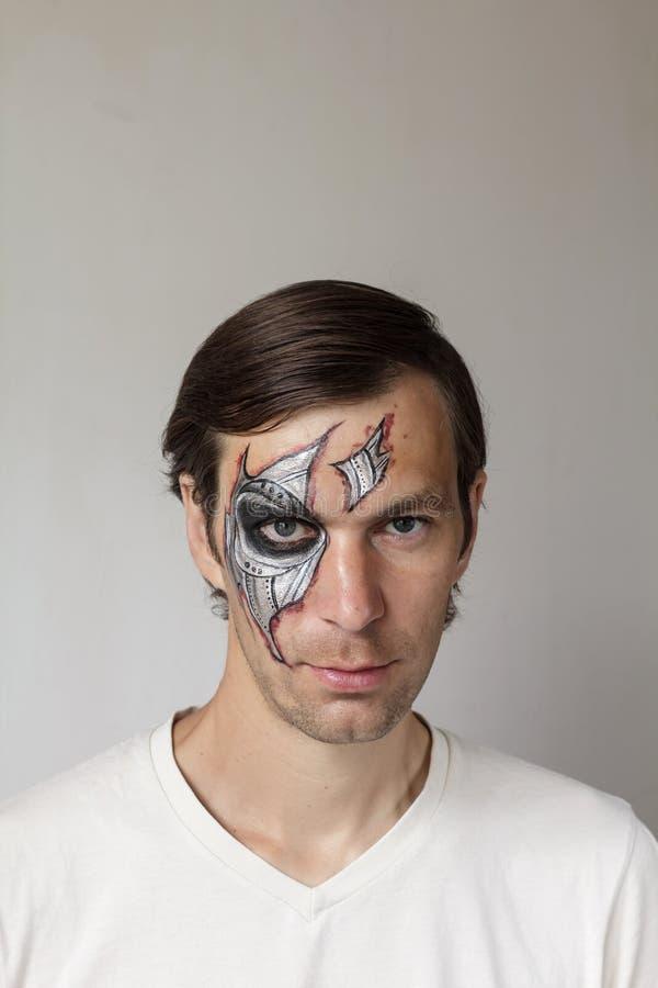 Halloween font face à la peinture photo stock